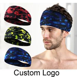 Wholesale red sketches - Fashion Running Sweatband Fitness Yoga Headband Antiperspirant Tape Sketch Sports Headband Gym Stretch Headband Hair Band Custom Logo H393F