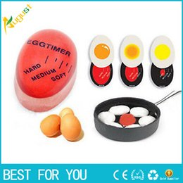 Wholesale Red Boils - 1pcs Egg Perfect Color Changing Timer Yummy Soft Hard Boiled Eggs Cooking Kitchen Eco-Friendly Resin Eggs Timer Red