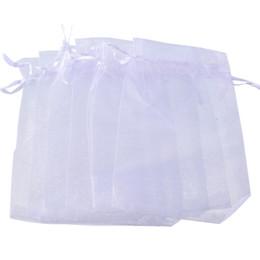 xl sacolas de armazenamento a vácuo Desconto 10x15cm sacos de armazenamento Branco Organza Favor presente da jóia Bolsa Bolsas Wedding de composição bonito Presente de Natal Organizer Bag 100pcs / lot