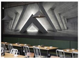 papier peint uni solide Promotion Papier peint mural sans couture 3D Étendre l'espace Autocollant de ciment Cafétéria Bar Décoration Personnalité Géométrie Fond d'écran 35mn ii