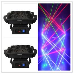 luzes laser a cores ao ar livre Desconto Oito olhos laser luz show projetor rgb spider laser moving head
