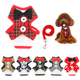 Wholesale Fall Harness - Pet Dog Harness and leash Adjustable Puppy Harness Vest No Pull Dog Harness Leads Leash Small Pet Accessories for Animals