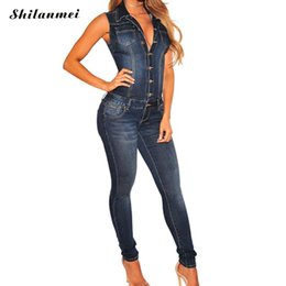 7979d45aee99 2018 High Street Sleeveless Jumpsuit Jeans Sexy Bodysuit Women Denim  Overalls Rompers Pants Jeans Ladies Club Party Streetwear inexpensive sexy  bodysuit ...
