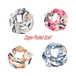 2019 écharpes unies rouges Femmes poisson-échelle convertible infinity foulard poche boucle zipper poche foulards pour foulard femme foulard Cachecol Bufanda