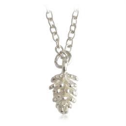 Wholesale pine silver - Fashion Mini Acorn Pine Cone Pendant Necklaces Sweater Chain Pinecone Jewelry collar Gift