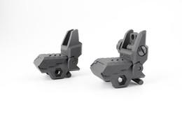 Toda la venta 2018 Nuevo visor de respaldo de polímero Floding delantero y trasero caza Rifle para el montaje en riel de 20 mm AR15 M4 arisoft Envío gratis desde fabricantes
