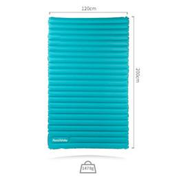 100% neuf Naturehike 40D en nylon 200x120x9.5cm double matelas de couchage gonflable Ultralight Camping en plein air literie coussins extérieurs ? partir de fabricateur