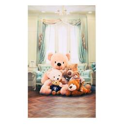 Wholesale photography backdrop indoor - Cute Photography Background Teddy Vinyl Photo Studio Backdrop Bear Background 3x5ft Indoor Baby Child