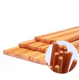 Commercio all'ingrosso 24 cm bacchette di bambù naturale cinese riutilizzabile antisdrucciolevole sushi bastoni da cucina accessori da tavola commercio all'ingrosso libero di trasporto da commercio all'ingrosso del bastone di bambù fornitori
