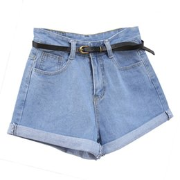2019 blue jeans chicas calientes Solid Women Retro Jeans Shorts Verano High Waisted Laminados Jean Shorts con bolsillos Y6
