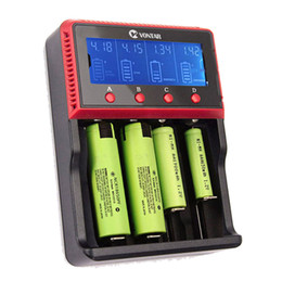 Wholesale 24v Li Charger - VT4 VT2 plus LCD Battery Charger 12V 24V Rechargeable Battery For LI-ion NiMH Ni-CD AA AAA AAAA 26650 14500 22650 18650 PK D4 D2