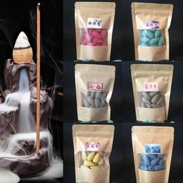 2019 sacs d'émotion 20 pcs / sac Parfum Naturel Encens Cône Creative Living Culture Le Lile Moine Petit Bouddha Encens Régulation Emotion sacs d'émotion pas cher