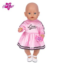 Wholesale Wholesale 18 Inch Doll Accessories - Handmade 15 Colors Princess Dress Doll Clothes for 18 inch Dolls Zapf Baby Born Doll Clothes and Accessories