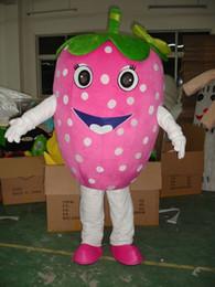 Hochwertige obstkostüme online-Qualitäts-heißer Verkauf Erdbeerfrucht-Abendkleid-Karikatur-erwachsenes Tier-Maskottchen-Kostüm geben Verschiffen frei
