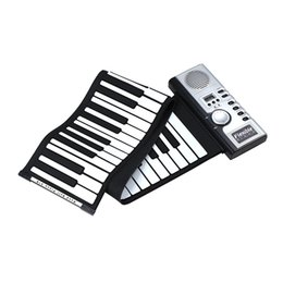 Chiave flessibile online-61 Keys Flexible Synthesizer Mano Roll up Roll-Up Portable USB Soft Keyboard Pianoforte MIDI Build in Speaker Piano elettronico