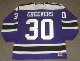 3edede5a2 Discount wha jerseys - Wholesale Cheap GERRY CHEEVERS Cleveland Crusaders  1974 WHA Vintage Hockey Jersey All