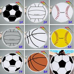 2019 ropa de voleibol Ronda de borla de béisbol softball toalla de playa  polyster voleibol Picnic 8208ae2662163