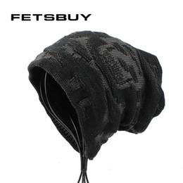 bf9b6b392eeea  FETSBUY  Knied Beanies Mens Winter Thick Add Velvet Bonnet Hat For Men  Skullies Cap Women Hip Hop Caps Bone Gorros 18004