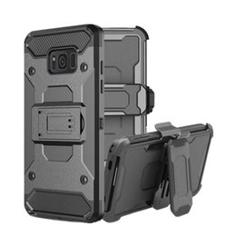 rugged cases belt clip Promo Codes - For Galaxy S8 S8 Plus S9 S9 Plus Rugged Armor Case Hybrid Holster Shockproof Kickstand Clip Belt Cover