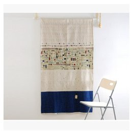 Wholesale Hotel Drapery Rods - Mediterranean style cotton curtain short curtain half coffee curtain factory outlets