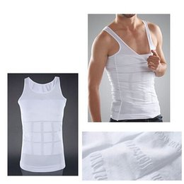 Wholesale thermal corset - Hot Men's Sexy Slimming Tummy Body Shaper Belly Fatty Thermal slim lift Underwear Men Sport Vest Shirt Corset Shapewear Reducers Men's