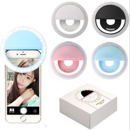 Wholesale camera phone photography - Selfie LED fill light Universal Portable LED Ring Fill Light Lamp Camera Photography Flashes for iPhone Android Smart Phone