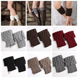 Wholesale Crocheted Boot Cuff - Women Winter Warm Knit Leg Warmer Crochet Knitted Ankle Socks Boot Cuffs Toppers Crochet Leg Warmers Knitted Boot Cuffs KKA3618