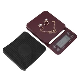 Wholesale Digital Weighing Scales 5kg - Portable LCD Digital Electronic Scale with Timer 3kg 0.1g 5kg 0.5g Kitchen Scale Weighing Home Coffee with Timer Jewelry Scale