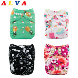 Wholesale diaper gauze - (50pcs per Lot) Alvababy Reusable Baby Cloth Diaper Washable Cloth Nappy with 50pcs Microfiber Inserts Free Shipping
