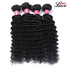 Wholesale Cheap Malaysian Deep Wave - Cheap Peruvian Hair Bundles Peruvian Deep Curly Wave Human Hair 3 4 5 Bundle Extensions unprocessed Dyeable Peruvian Human hair Deep weave