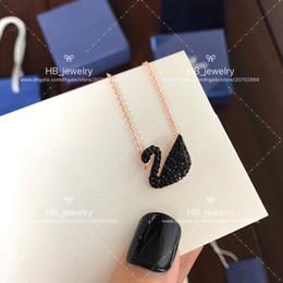 Marca de moda popular Versión alta Collar de cisne negro para dama Diseño Mujer Fiesta Boda Joyería de lujo para novia con CAJA. desde fabricantes