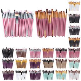 Wholesale Plastic Eyeliner - 20Pcs Cosmetic Makeup Brushes Set Powder Foundation Eyeshadow Eyeliner Lip Brush Tool Brand Make Up Brushes beauty tools pincel maquiagem