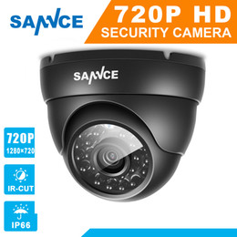 Wholesale Night Vision Camera System - SANNCE AHD 720P 1200TVL Dome CCTV Camera 1280*720 1.0MP Waterproof IR-Cut Night Vision Camera For Surveillance System Kit BC