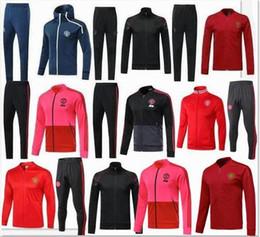 Argentina Top calidad 19 20 LUKAKU POGBA United chaqueta traje de entrenamiento kits de fútbol Jersey 2019 MARTIAL MKHITARYAN chaqueta de fútbol conjunto de ropa deportiva cheap martial jacket Suministro