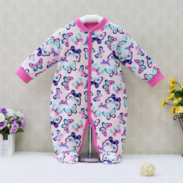 Wholesale Girls Footies - Little Q Pure Cotton Newborn Footies Winter one piece fashion print Baby Clothing multicolor girl infant apparel