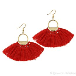 Wholesale korea nail - Korea East Gate Popular With Fund Temperament Collocation Sector Tassels Hollow Out Ring Pendeloque Cut Earrings Ear Nail Earring
