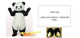 Wholesale Panda Mascots - High-quality Real Pictures Deluxe panda mascot costume Adult Size free shipping