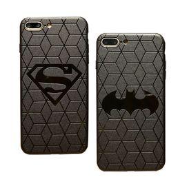 2019 funda de superman para iphone Estuche 3D táctil para IPhone X 8 Plus Estuche protector suave de silicona para iPhone 7 6 Plus Cubierta trasera Superman Batman funda de superman para iphone baratos