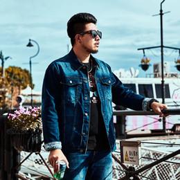 camisa de denim homens 6xl Desconto 2018 marca Outono Tide tamanho Grande 5XL 6XL casaco dos homens Casual Solto Denim jaqueta casaco Masculino tamanho Grande Lavado Azul Denim camisa