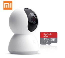 Wholesale version pal - Original Xiaomi mijia Smart PTZ camera version 720 P Night vision webcam 360 Angle camcorder Wi-Fi Wireless Mute Motor Magic zoom