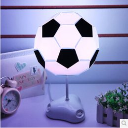 Wholesale Deco Kids - Colorful Light DIY Football Lampshade USB BATTERY Power LED Table Lamps Night Light For Boys Kids Beside Room Decoration