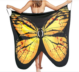 Bikinis de mariposa online-Beach Cover Up 2019 sexy print Butterfly Bikini traje de baño Cover Ups Beach Dress Women Beach túnica Sarong Robe Plage DHL Envío gratis