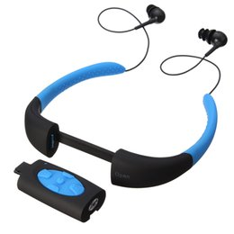 Mp3 ipx8 4gb онлайн-LEORY 4 цвета IPX8 водонепроницаемый MP3-плеер гарнитура плавание серфинг спа дайвинг Спорт MP3-плеер FM-радио встроенный 4 ГБ памяти
