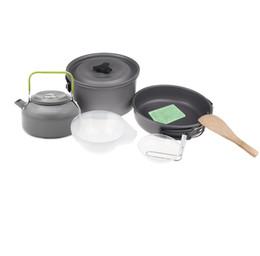Pot di zaino in alluminio online-H10658 Ossido di alluminio per campeggio all'aperto Set da cucina Escursionismo Backpacking Cookout Picnic Pentole Teiera Caffè