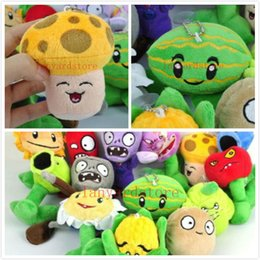 """Wholesale Plants Vs Zombies Pc - New 5"""" Plants VS Zombies Soft Plush Toy With Sucker A full 1 set 14 pcs free shipping"""