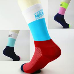 Meias de voleibol on-line-2018 marca profissional meias de ciclismo esporte proteger os pés respirável wicking meias de tênis de basquete de vôlei