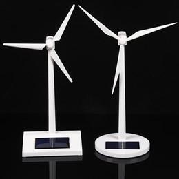 Argentina Nuevo llega el modelo de molino de viento Solar DIY juguetes Plástico Montado Modelo 3D Rompecabezas Montando Molino de Energía Solar Mejor Regalo Para Niños Suministro