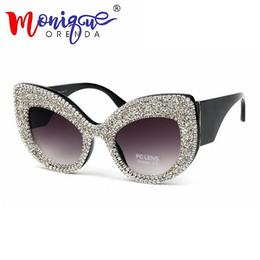 c3ba07d191c New Oversize Cat Eye Sunglasses Women Brand Designer Luxury Rhinestone  Black Eyeglasses Men Vintage Acetate Frame Sun Glasses