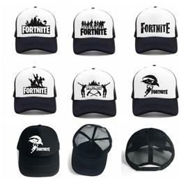 Wholesale cap cooling fan - adult Fortnite Hats Trucker Cap Fortnite Fans Cool Caps Summer Baseball Net Outdoor Sports Caps Fortnite Mesh Hats 14 design KKA5547