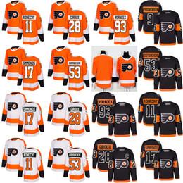21e1fbb6f philadelphia Flyers 53 Shayne Gostisbehere 17 Wayne Simmonds 28 Claude  Giroux Jakub Voracek Ivan Provorov Konecny Eric Lindros Hockey Jersey ivan  provorov ...